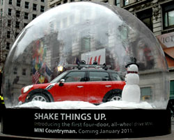 manufacturer custom plastic bubbles, Bubble Advertisement-4 door mini cooper bubble dome custom inflatable giant snow globe fabrication for huge display