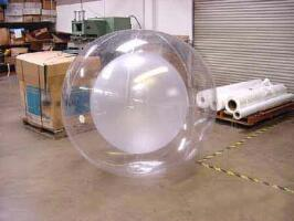 ball in ball plastic bubble fabrication