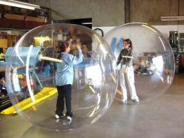 Giant, Large inflatable plastic bubbles